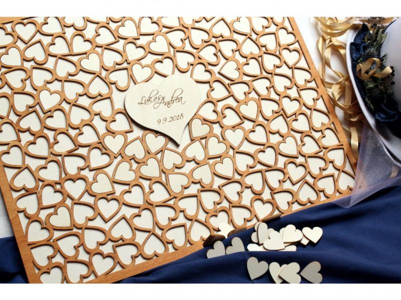 Svadobné ozdoby - Svadobný obraz na odkazy - srdce