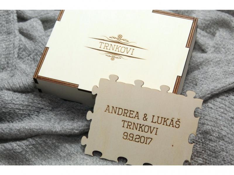 Dary pre novomanželov - Svadobné puzzle v krabičke