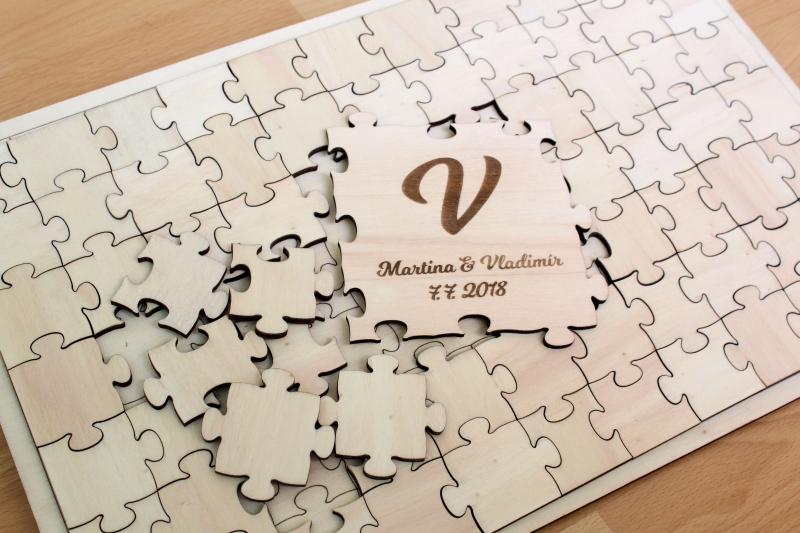 Svadobné ozdoby - Svadobné puzzle