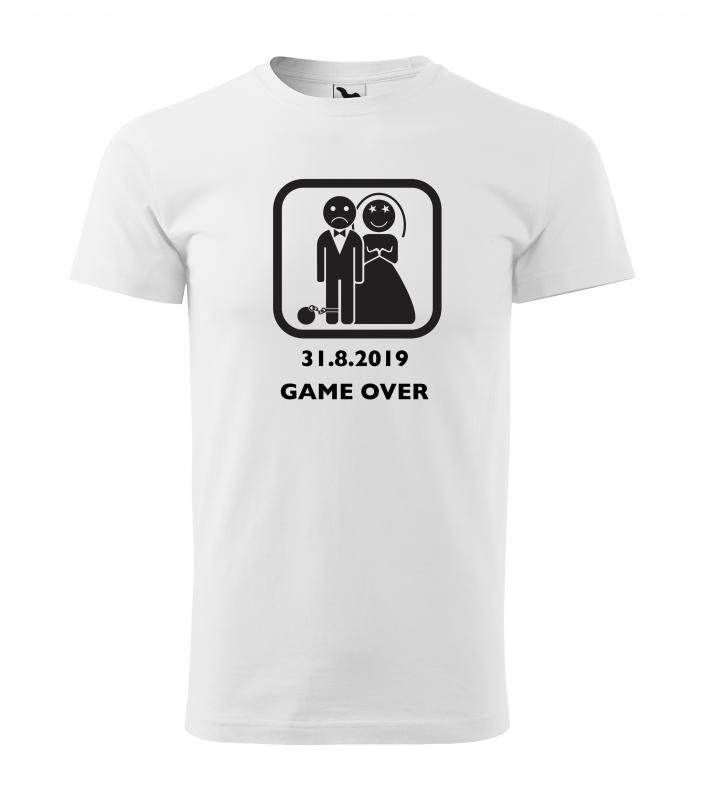 Rozlúčka so slobodou - Tričko Game over s guľou