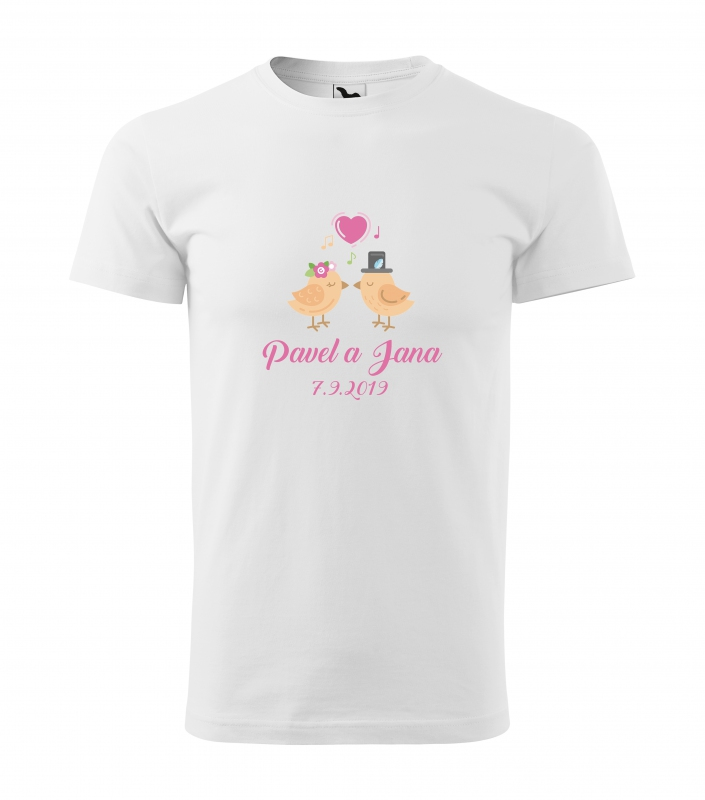 Svatební trička - Tričko vtačie pár - pánske
