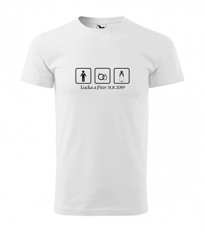 Svatební trička - Tričko tri štvorce - pánske