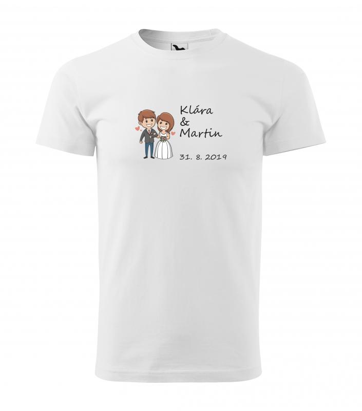 Svatební trička - Tričko zamilovaný pár - pánske