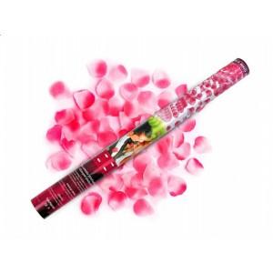Vystřelovací konfety - růžové okvětní plátky