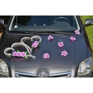 Květy na ozdobení automobilu - fialová