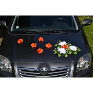 Květy na ozdobení automobilu - oranžová