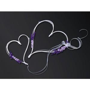Ratanová srdce - fialová