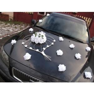 Květy na ozdobení automobilu - bílá