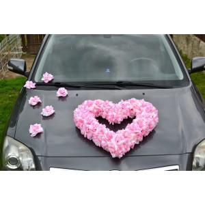Květy na ozdobení automobilu - růžová