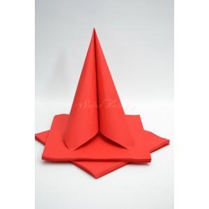 Třívrstvé ubrousky - červená
