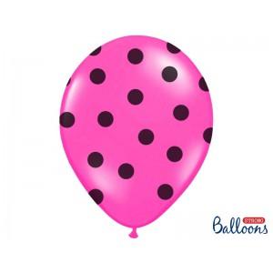 Růžový balónek puntíkovaný