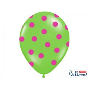 Zelený balónek s puntíky