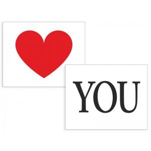 Nálepky Srdce/You
