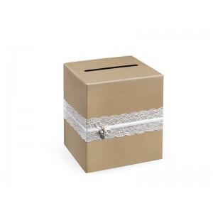 Krabička na přání - hnědá