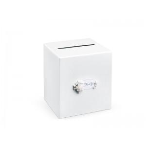 Krabička na přání s bílými květy