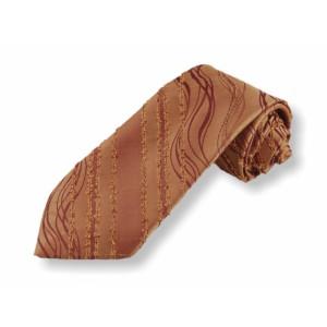 Tkaná kravata - hnědá