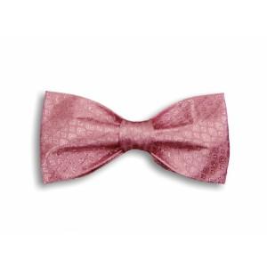 Světle-růžový tkaný motýlek