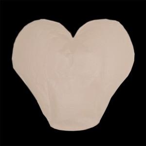 Lampion štěstí srdce - bílé