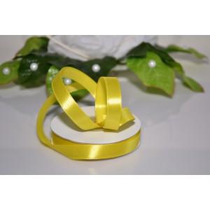 Saténová stuha 12mm - žlutá