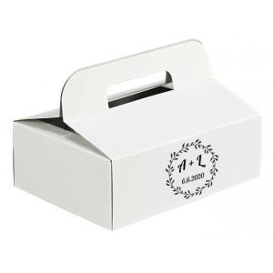 Krabička na výslužky kruh