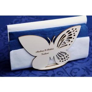 Stojánek na ubrousky - motýlek se jmény