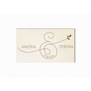 Svatební magnet ampersand