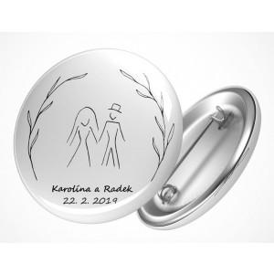 Svatební placka postavy