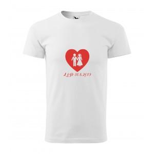 Tričko srdce - pánské